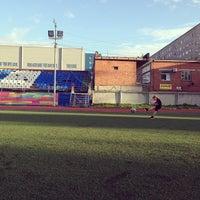 Photo taken at Стадион УрФУ by Lara A. on 8/22/2014