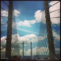Photo taken at Penang Bridge by MK C. on 2/16/2013