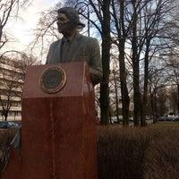 Photo taken at Pomnik Ronalda Regana by Frank M. on 12/22/2017