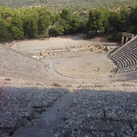 Photo taken at Epidaurus Ancient Theatre by Jeffrie v. on 9/9/2014