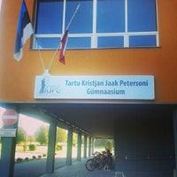 Photo taken at Tartu Kristjan Jaak Petersoni Gümnaasium by Liisi O. on 9/3/2014