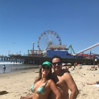 Photo taken at Praia De Santa Monica by Esmê N. on 9/26/2016