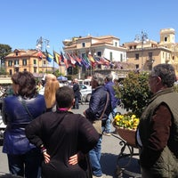 Photo taken at Piazza Tasso by Fabio S. on 4/14/2013
