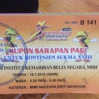 Photo taken at Institut Kemahiran Belia Negara Miri by Reginald A. on 7/18/2016