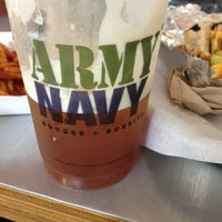 Photo taken at Army Navy Burger + Burrito by Mariel G. on 4/13/2013