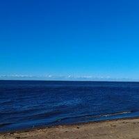 Photo taken at Пляж Финского Залива by Данька И. on 5/1/2013