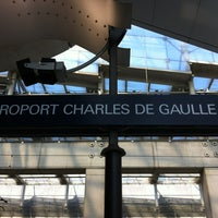Photo taken at Gare SNCF d'Aéroport Charles de Gaulle TGV by Jeanne B. on 6/2/2013