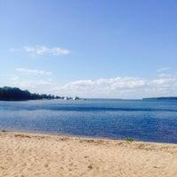 Photo taken at Пляж Прибой by Алексей Ф. on 8/9/2015
