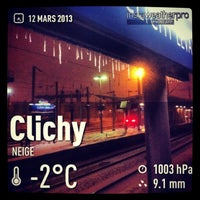 Photo taken at Gare SNCF de Clichy Levallois by Christelle R. on 3/12/2013
