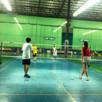 Photo taken at CC Badminton Court by Jill Jin Moo K. on 7/16/2014