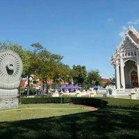 Photo taken at Wat Chonprathan Rangsarit by Prasuthorn R. on 12/17/2013