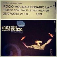 Photo taken at Teatro Comunale Bolzano by Patrick J. on 7/25/2015