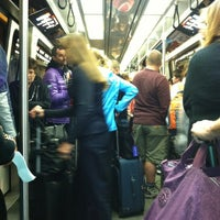 Photo taken at Denver International Airport Train by 😜 Heather S. on 11/19/2012