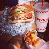 Photo taken at Five Guys by Emm C. on 3/23/2013