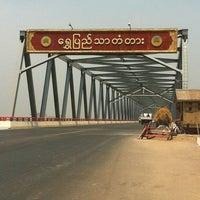 Photo taken at Shwe Pyi Thar Bridge by Aung Myo L. on 4/11/2013