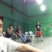 Photo taken at Dewan Badminton BCB by Izzan I. on 3/7/2013