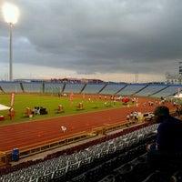 Photo taken at Hasely Crawford Stadium by Makida B. on 5/3/2013