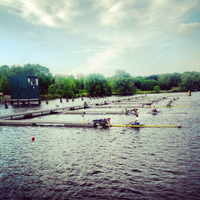 Photo taken at Starting aerea regatta course Dove-Elbe by Philip S. on 6/2/2013