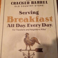 Photo taken at Cracker Barrel Old Country Store by Becky L. on 4/14/2013