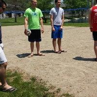 Photo taken at Landmark Volleyball Pit by Erik S. on 6/1/2014