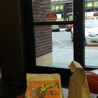 Photo taken at Sandy's Donuts by Jody W. on 9/28/2014