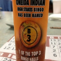 Photo taken at Oneida Indian High Stakes Bingo by Rebecca W. on 3/7/2013