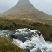 Photo taken at Kirkjufellsfoss by Burak O. on 9/16/2016
