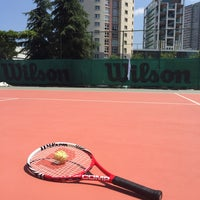 Photo taken at Hillside City Club Tennis Court by Burak O. on 6/14/2015