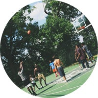 Photo taken at Piedmont Park - Basketball Courts by Bri M. on 6/28/2014
