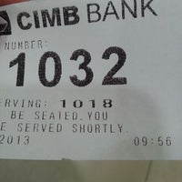 Photo taken at CIMB Bank by dennis w. on 5/28/2013