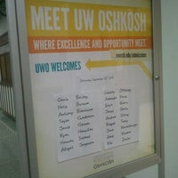Photo taken at UW Oshkosh Admissions Office by Holly J. on 9/22/2012