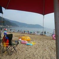 Photo taken at Wahyeon Beach by Eka A. on 7/27/2013
