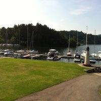 Photo taken at Modrá loděnice - Jachtklub by Michaela H. on 7/20/2014