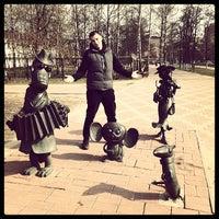 Photo taken at Скульптуры Чебурашка, Крокодил Гена и Шапокляк by Никита Г. on 4/12/2014