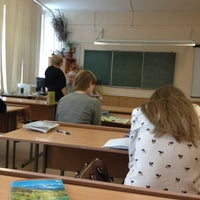 Photo taken at Гимназия № 159 «Бестужевская» by ∆ Aleksandra ∇ on 4/2/2013