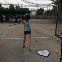 Photo taken at Berlin Batting Cages by Jennifer M. on 7/20/2013