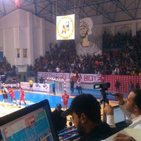 Photo taken at Salle Omnisports d'Hammamet by Aymen C. on 1/12/2014