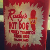 Photo taken at Rudy's Hot Dog by Valerie K. on 8/19/2013