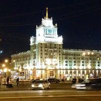Photo taken at Triumfalnaya Square by Sergeℹ on 5/8/2013