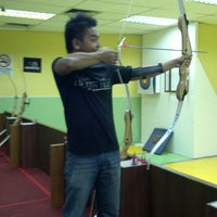 Photo taken at Arena Archery Entertainment Acade by Ahmad Muizz K. on 6/26/2013