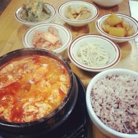 Photo taken at Myung-dong Soft Tofu House Korean Restaurant by Miguel G. on 6/14/2013