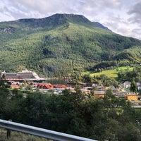 Photo taken at Flåm by Banu B. on 8/23/2018