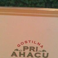 Photo taken at Gostilna pri Ahacu by Tjaša G. on 5/13/2013
