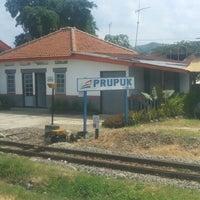 Photo taken at Stasiun Prupuk by Karra R. on 7/21/2013