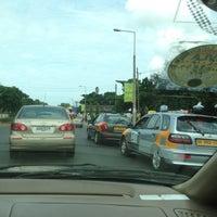 Photo taken at Stinky Cab, Accra by Scott K. on 7/8/2013