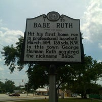 Photo taken at Babe Ruth Marker by Ashleigh B. on 5/10/2013