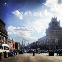 Photo taken at Triumfalnaya Square by Виктория О. on 6/10/2013