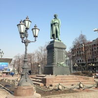 Снимок сделан в Пушкинская площадь пользователем Anna S. 4/15/2013