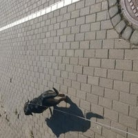 Photo taken at Gājēju un velosipēdu ceļš (Skanstes iela) by Inese L. on 9/4/2014
