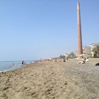 Photo taken at Playa de La Misericordia by Monica C. on 5/25/2013
